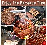 grilljoy 7PCS BBQ Grill-Werkzeug-Satz, Hochleistungs-Edelstahl-Zusätze mit Schutzblech-Speicher-Tasche, komplettes Grill-Ausrüstung für Vati, Geburtstagsgeschenk für Mann im Freien - 7