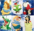 "Peter Pan 6 Piece Christmas Tree Ornament Set Featuring Peter Pan and Friends - Around 2.5"" to 3.5"" Tall"