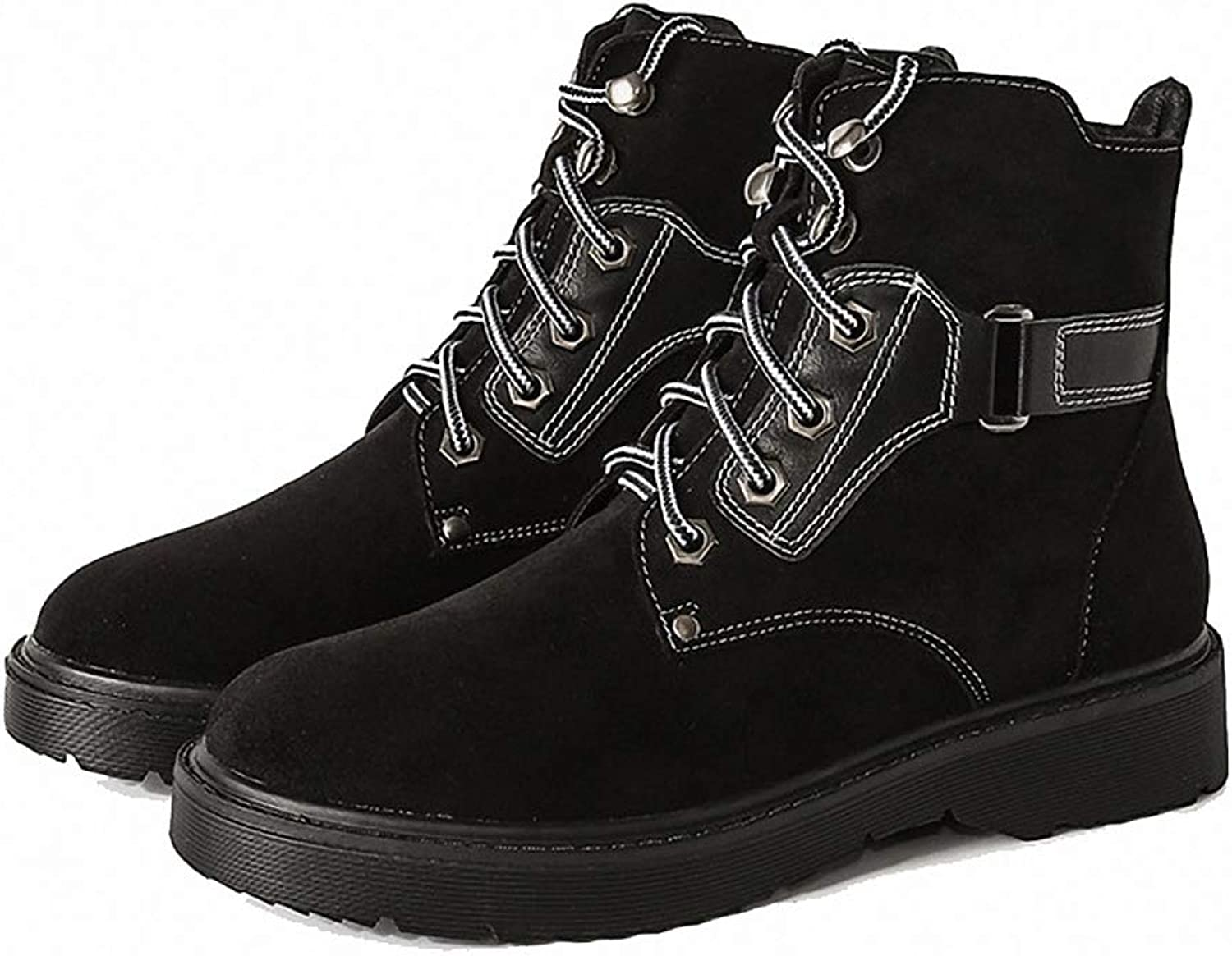 Kyle Walsh Pa Women's Martin Boots Female Vintage Winter Student Ankle Booties Lace-up Large Size shoes