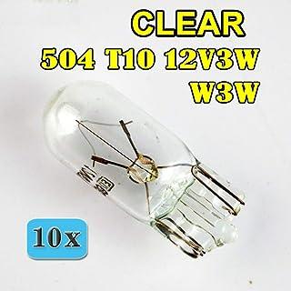 Juego de 10 bombillas 3W T10 12V W3W para coche C1699 AERZETIX