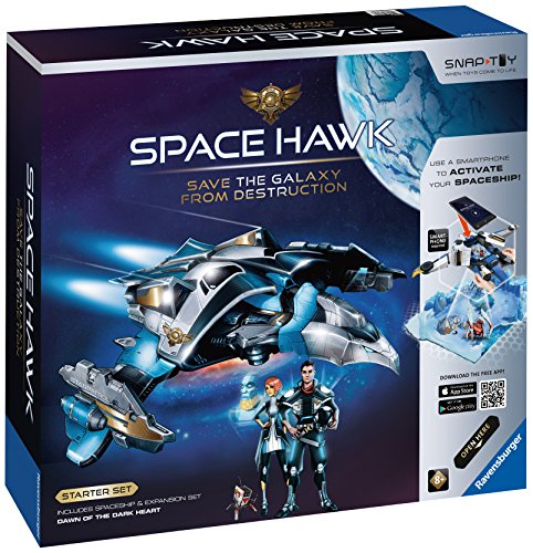 Ravensburger Space Hawk Starter Set Includes Spacehip & Expansion Dawn of The Dark Heart by Ravensburger