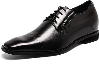 CHAMARIPA(JP) 底上げ靴 ビシネス·シークレットシューズ男性 ドレス ダービー 高さ靴 本革 外羽根 背が高い増やし