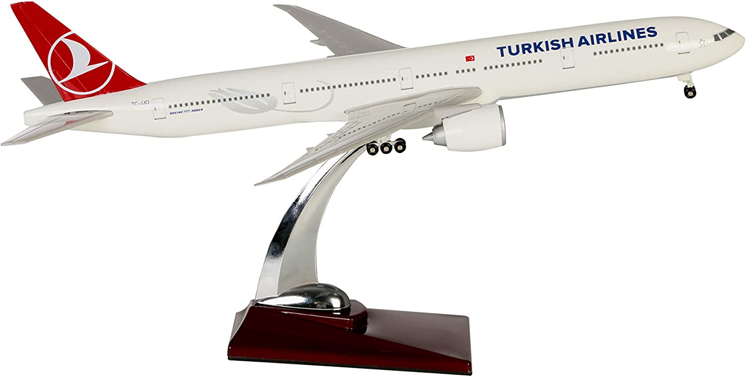 TK Collection Turkish Airlines Boeing 777-300 ER 1/200 Scale with Landing Gears, Private Day Gift, Home Decor, Office Decor, Aviation Accesories, Model Plane