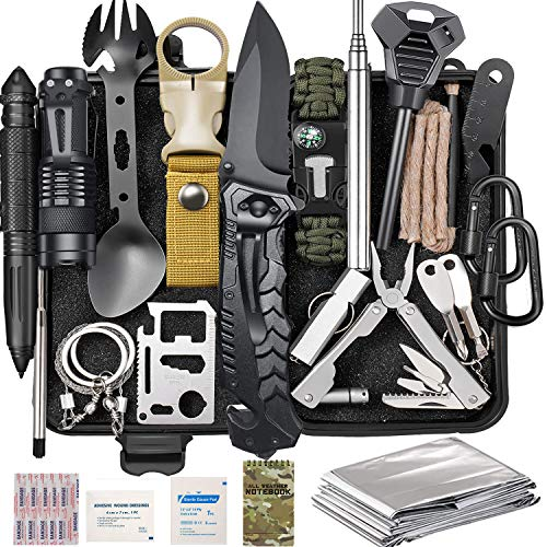 Lchahsprn Survival Gear Kit 37 in 1, Emergency EDC Survival Tools SOS...