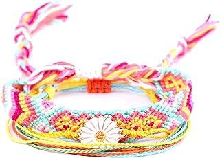Weave Rope Wave Charm Bracelet - Boho Beach Surf Bracelets 100% Waterproof and Handmade For Female Pure Life Friendship Bracelets
