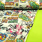 Softshell Stoff Graffiti Frosch