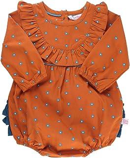 RuffleButts Baby/Toddler Girls Woven Bubble Romper with Ruffles