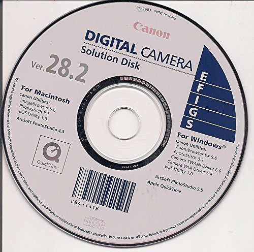 Canon Digital Camera Solution Disk Ver. 28.2