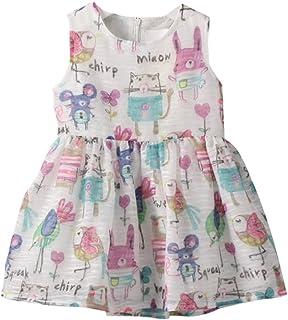 (ウイ カプア) u'i Kapua カラフル アニマル プリント ノースリーブ ワンピース 子供服 女の子 ドレス 総柄