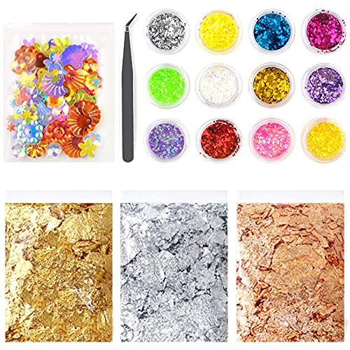 Zhantie Kit de decoración de resina epoxi DIY Suministros de manualidades Accesorios Decoración Set para uñas resina epoxi Artesanía