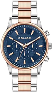 Bevilles Police Kastrup Mens Watch Model PL15589JSTR/03M Stainless Steel 3 Hands,Multi Dial 4895220901376 Rose & Silver