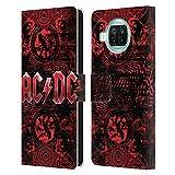 Head Case Designs Offizielle AC/DC ACDC Verziert Rot Logo Leder Brieftaschen Handyhülle Hülle Huelle kompatibel mit Xiaomi Mi 10T Lite 5G