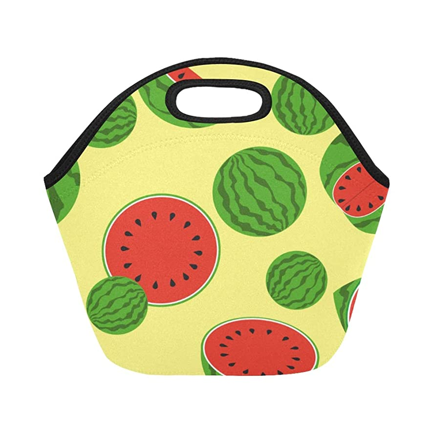 Insulated Neoprene Lunch Bag Summer Sweet Cool Fruit Watermelon Large Size Reusable Thermal Thick Lunch Tote Bags Lunch Boxes For Outdoor Work Office School