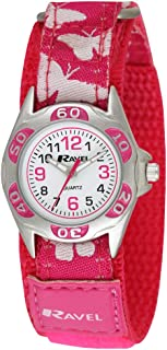 Ravel Girls White Dial Pink / White Butterfly Strap Watch R1507.50