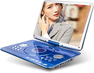 Portable DVD Player 17in DVD Seeding Machine Hand Held EVD Blue Light VCD for Home Shadow Desk Small Screen Student Study