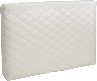 Maxbea Indoor Winter Air Conditioner Cover, Quilted Double Insulation Window Wall AC Units Cover for Blocking Cold Air Out and Eliminating Dust Buildup, Creamy White Cover (Large, 25x17x2.5)