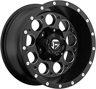 Fuel Revolver 15x10 Black Wheel / Rim 5x4.75 & 5x5 with a -43mm Offset and a 78.10 Hub Bore. Partnumber D52515000837
