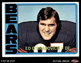 1972 Topps # 197 Ed O'Bradovich Chicago Bears (Football Card) Dean's Cards 4 - VG/EX Bears