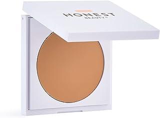 Honest Beauty Everything Cream Foundation, Camel | Demi-Matte, Lightweight, Medium-to-Full Coverage | Talc Free, Dermatologist Tested, Cruelty Free | 0.31 oz.