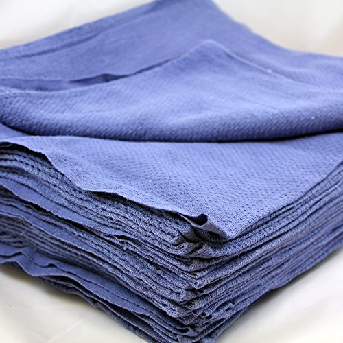 Colibyou New Glass Cleaning Shop Towels Blue Huck Surgical Detailing Glass Towels