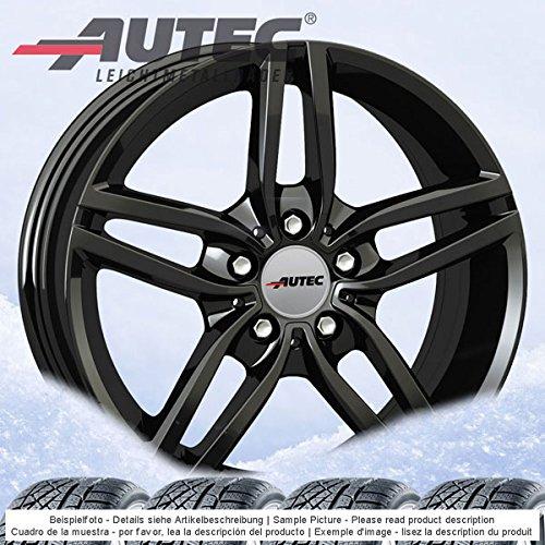 4 Winterräder Autec Kitano 7.0Jx16 ET40 5x120 schwarz mit 205/55 R16 91H Semperit Speed-Grip 2 für BMW 1er 2er
