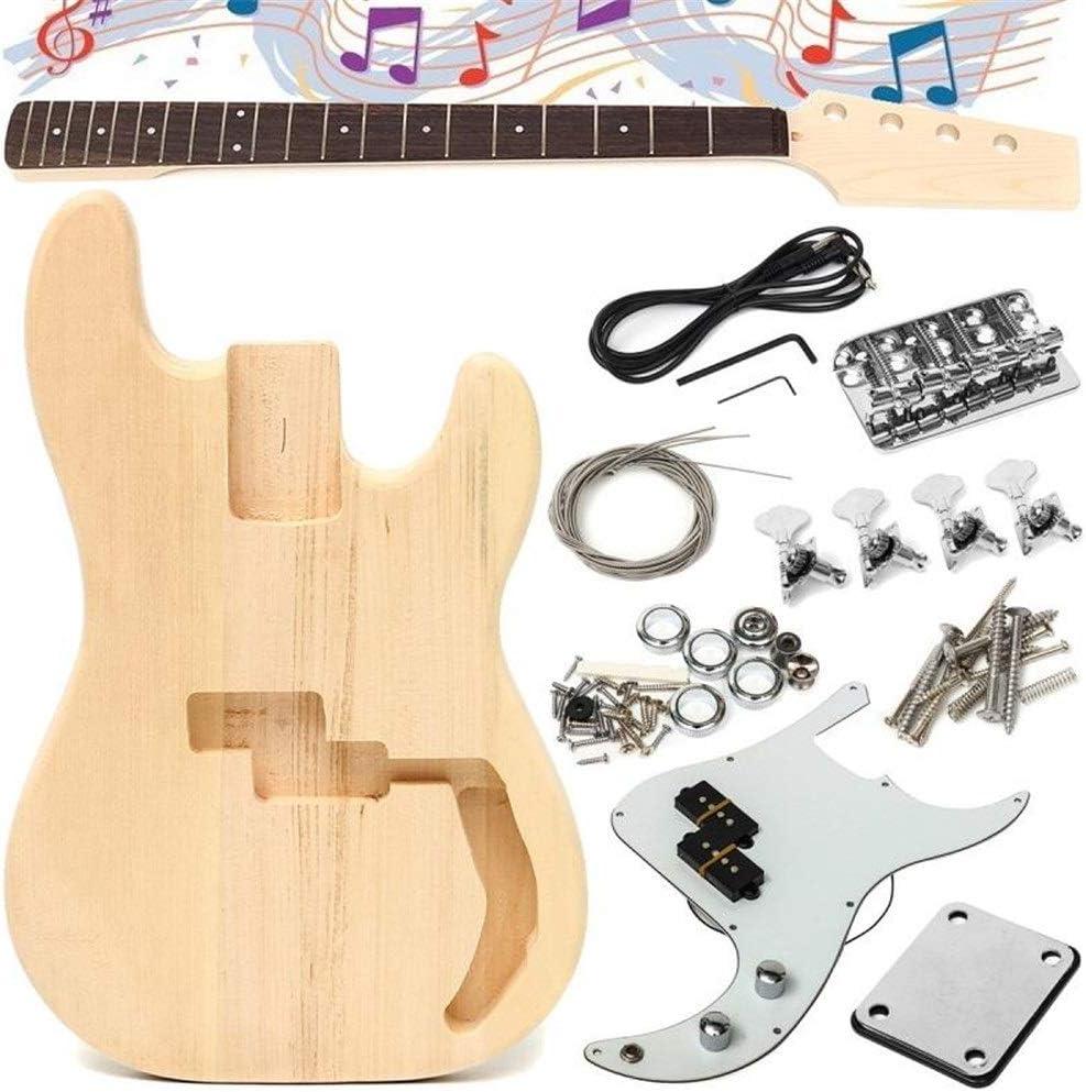 Guitarra acústica clásica 90x50x7cm Con la guitarra eléctrica de bricolaje sin terminar de madera de tilo Cuerpo secuencia del cuello aleación de níquel Cuerdas Diapasón de tilo Niños y guitarra junio