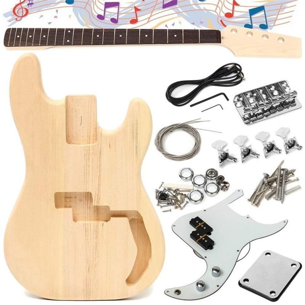 NO BRAND Guitarra distintiva para Principiantes DIY inacabado de ...