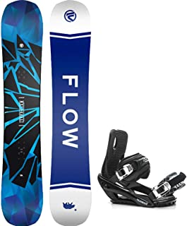 Flow 2021 Burst 159cm Men's Snowboard+5TH Element Strap Bindings