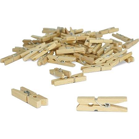 80 X Itenga Dekoklammern 2 5cm Holz Miniholz Klammern Wäscheklammern Mini Holzklammern Deko Klammern Zierklammern Größe Ca 2 5 Küche Haushalt