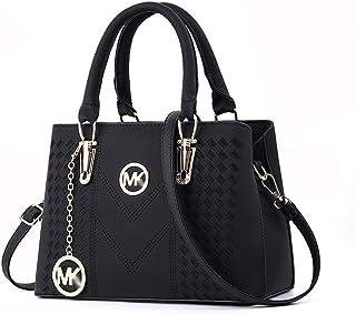 Bag Female Europe and America Big Bag Fashion Handbags Slung Shoulder Bag Handbag Wild Casual Fashion Bag,Black