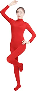 Shinningstar Women's Well-fit Lycra Body-fit Spandex Zentai Suits Footed One Piece Unitard