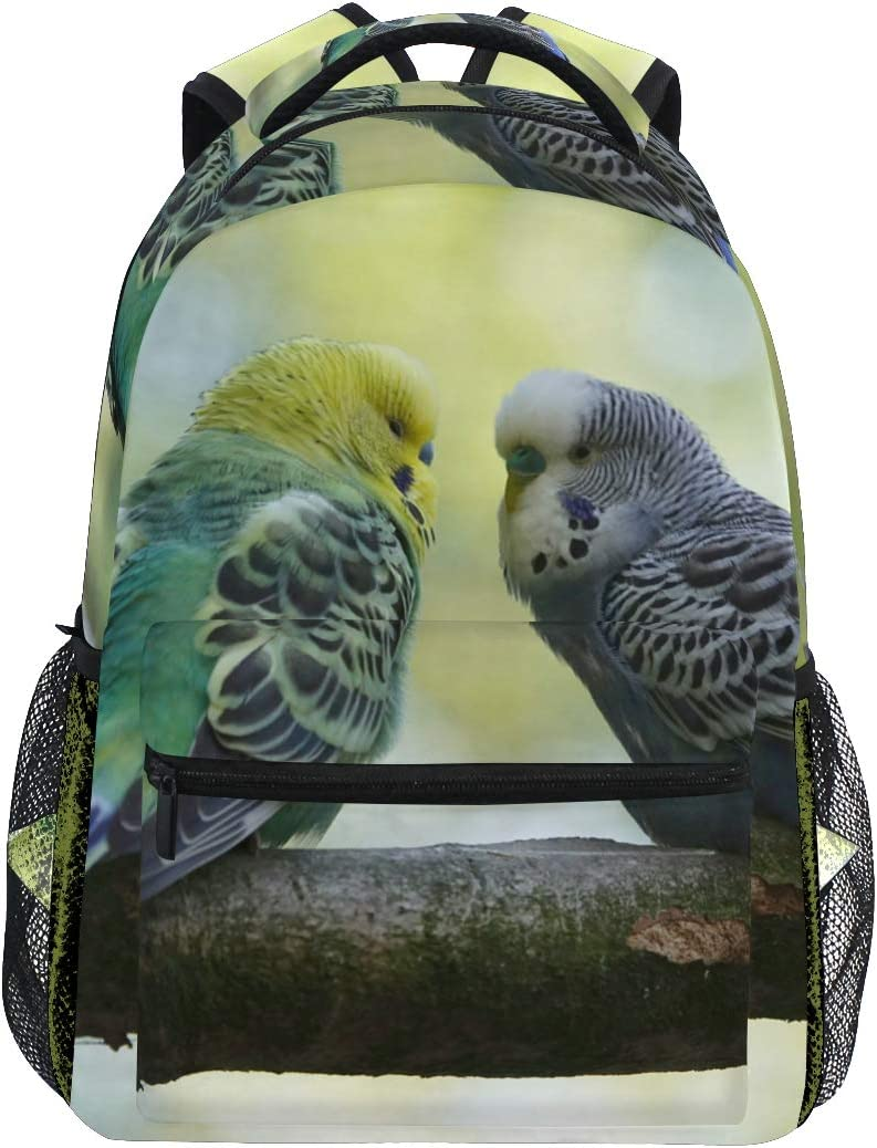Budgie Bird Wildlife Max 69% OFF Tropical Animal Daypack Col Our shop most popular School Backpack