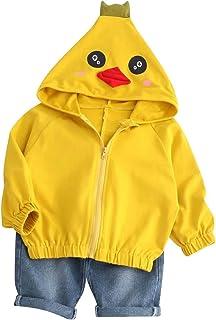 BOBORA Cute Rabbit Hat Shape Long Sleeve Sping Fall Toddler Boy Windbuster Baby Outerwear Jacket