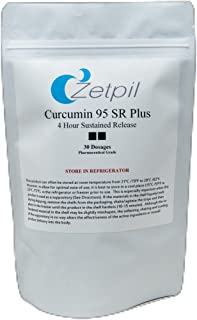 Zetpil Curcumin 95 SR Plus 4 Hour Sustained Release Suppositories, 30 Count
