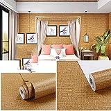 Papel Adhesivo para Muebles Vinilos Adhesivo para Muebles Puertas Impermeable Vinilo Pegatina para Muebles Decorativos Rollo Papel Pintado PVC de Cocina Armario marrón45CM X 1000CM