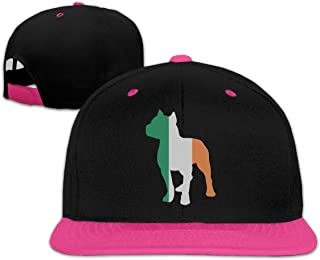 Men Women Patriotic Pitbull Irish Flag Fashion Baseball Caps Adjustable Hip Hop Dad Snapback Hat for Four Seasons