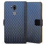 DeinDesign Étui Compatible avec LG G7 ThinQ Étui Folio Étui magnétique Motifs Look métallique...