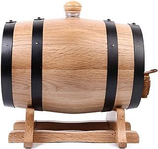 HWhome Tonneaux De Vin 5L Tonneau De Vin en Bois De Chêne avec Support Récipient pour Vin Fût à Vin pour Stockage De Vins ...