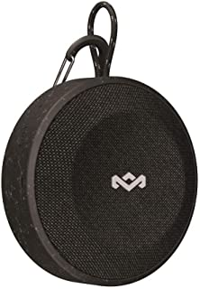 House of Marley, No Bounds Outdoor Speaker 10-Hour Battery, Water & Dust-Proof , IP67, Buoyant, Carabiner, Quick Charge, Charging Cable, Aux-In, Wireless Dual Speaker Pairing, Speaker phone Black