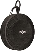 House of Marley, No Bounds Outdoor Speaker 10-Hour Battery, Water & Dust-Proof, IP67, Buoyant, Carabiner, Quick Charge, Charging Cable, Aux-in, Wireless Dual Speaker Pairing, Speaker Phone Black