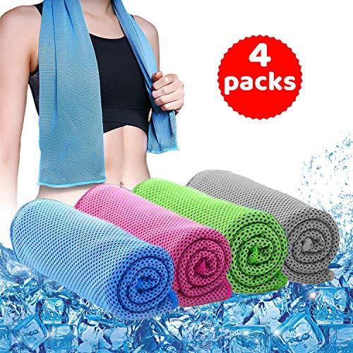 Neborn Port/átil de Viaje de Secado r/ápido Funda de Silicona para Exteriores de Secado Plegable Mini Compresi/ón Toalla Ejecutar Yoga Sport Feeling Cool Ice Towel