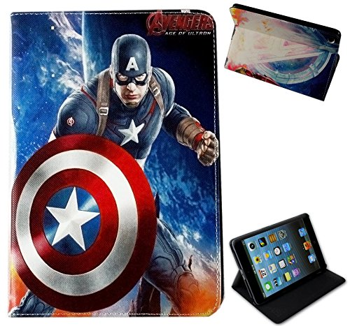 para Apple iPad Mini 1 2 3 Capitán América Estados Unidos Marvel DLC Comics función Atril