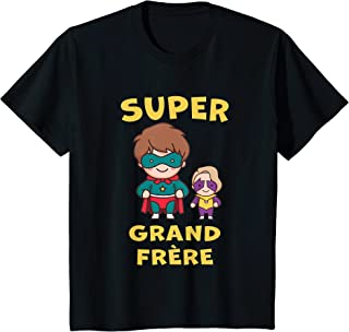 Enfant SUPERHERO GRAND FRÈRE 2022 SUPER PETITE SOEUR FILS CADEAU T-Shirt