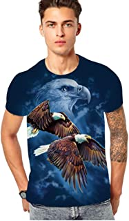 UUHHVV Short Sleeved t Shirt high Definition Personality