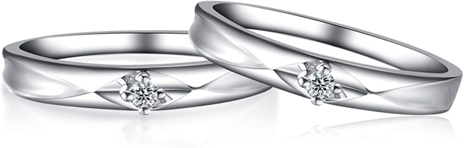 Daesar 18ct White Gold Max 58% Rapid rise OFF Rings Women Men for Engagement and