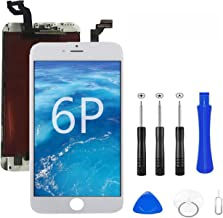 iPhone 6 Plus Screen Replacement, LCD Display & Touch Screen Digitizer Frame Assembly Set for A1549 A1522 A1524 with Repai...