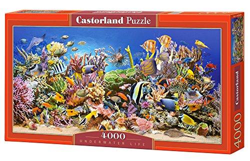 Castorland C-400089-2 Underwater Life,Puzzle 4000 Teile, Red