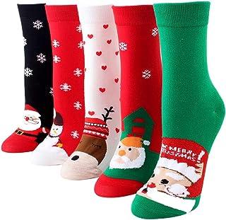 Bageek, Bageek Calcetín de navidad,5 pares Calcetines Esponjosos Calcetines Navideños Calcetines de Invierno Calcetines de navida para Adultos Cómodo Calcetines Navidad Regalos