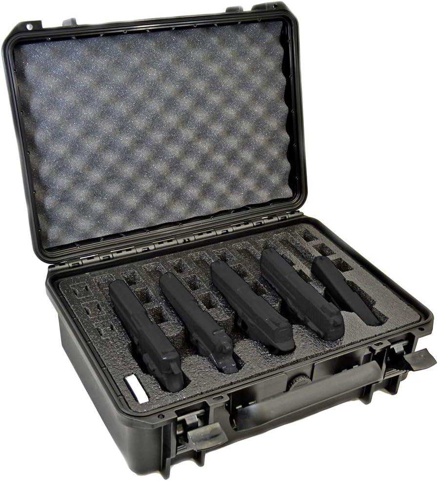 MY CASE BUILDER 5 Pistol Gun Case with Foam Inserts