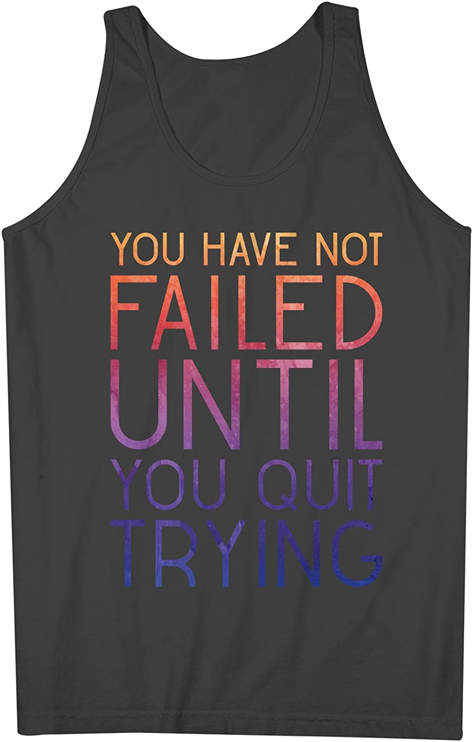 You Have Not Failed Until You Quit Trying Inspiration Motivation 男性用 Tank Top Sleeveless Shirt